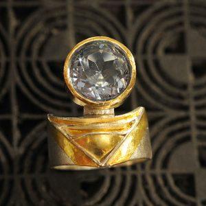 Goldschmiede karlsruhe unikatschmuck riegels-winsauer Ring aquamarin Gold Silber