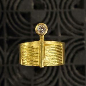 Goldschmiede karlsruhe unikatschmuck riegels-winsauer Ring Brillant Gold