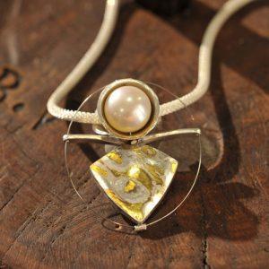 unikatschmuck Goldschmiede karlsruhe riegels-winsauer Perle Silber Collier