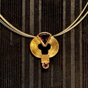 Goldschmiede unikatschmuck karlsruhe riegels-winsauer turmalin gold collier