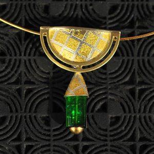 Goldschmiede karlsruhe unikatschmuck riegels-winsauer turmalin gold silber collier