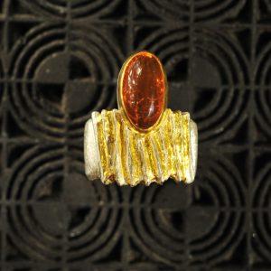 Goldschmiede karlsruhe unikatschmuck riegels-winsauer Feueropal opal Ring Gold