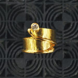 Goldschmiede karlsruhe unikatschmuck riegels-winsauer brillant goldring
