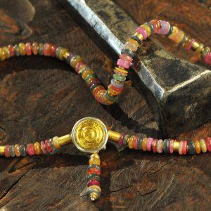 Goldschmiede karlsruhe unikatschmuck riegels-winsauer turmalin collier Gold silber