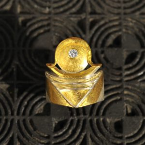 Goldschmiede karlsruhe unikatschmuck riegels-winsauer brillant Ring Gold silber
