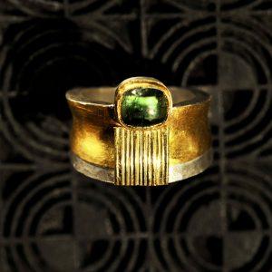 Goldschmiede karlsruhe unikatschmuck riegels-winsauer Turmalin Ring Gold