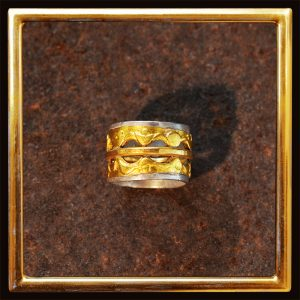 Ring Feingold auf Silber - auch als eigenwilliger Ehering